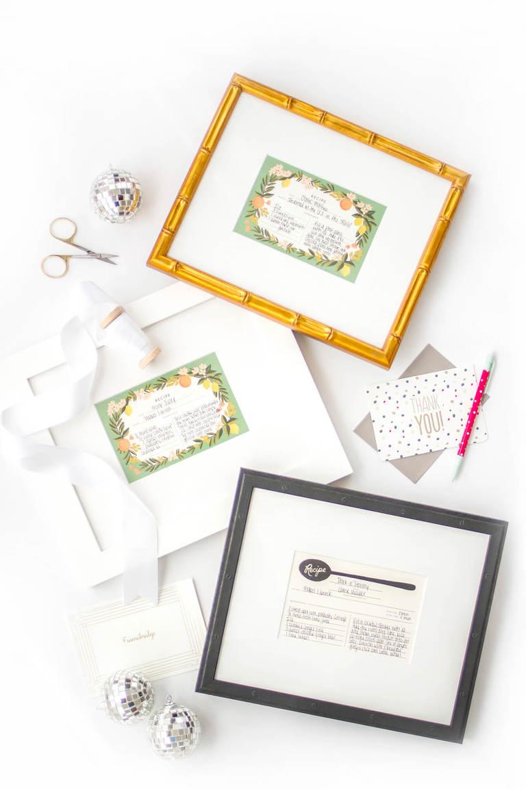 DIY Custom Framed Cocktail Recipe Card Gifts | Dream Green DIY + @Framebridge