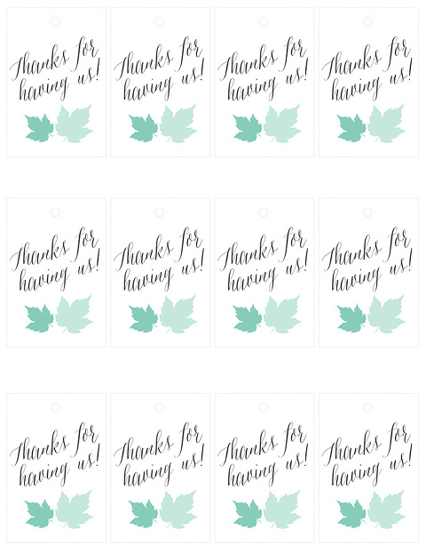 """10-Minute Printable Holiday """"Thank You"""" Tags 