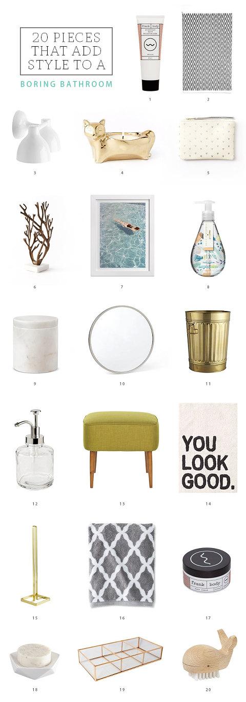 20 Ways To Add Style To A Boring Bathroom   dreamgreendiy.com