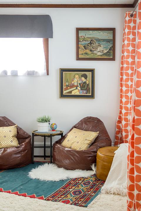 How To Create A Bohemian Movie Lounge | dreamgreendiy.com + @ehow + @wayfair