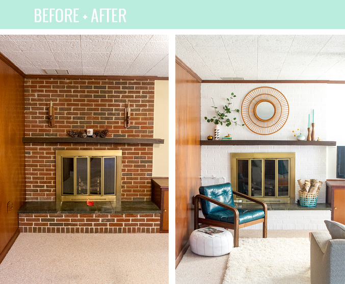 How To Paint Brick Bright White | dreamgreendiy.com + @ehow