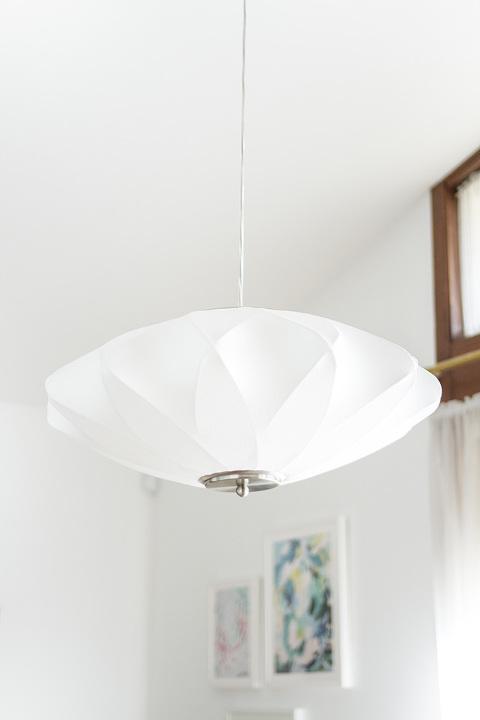 Retro Revival: Mid-Century Inspired @lampsplus Dining Room Chandelier | dreamgreendiy.com