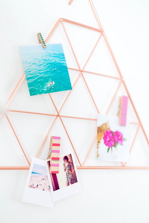 3 Uses For A Copper Triangle Scarf Holder | dreamgreendiy.com