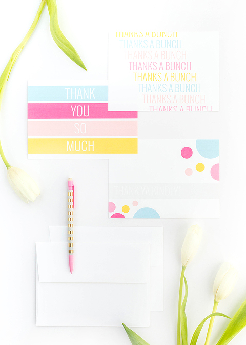 DIY Printable Thank You Cards | dreamgreendiy.com