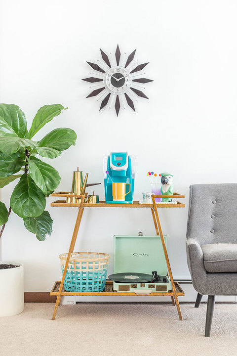 How To Style A Bar Cart Coffee Buffet | dreamgreendiy.com + @wayfair