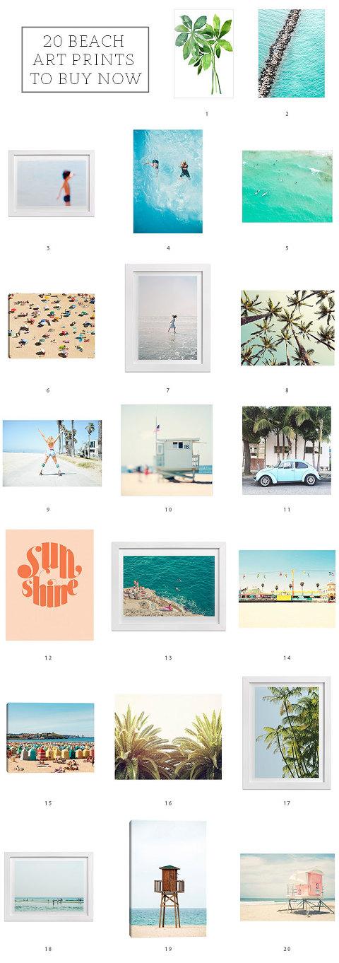 20 Beach Art Prints To Buy Now | dreamgreendiy.com