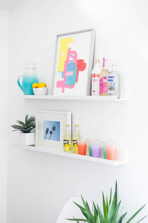 2 Ways To Style Dining Room Wall Shelves   dreamgreendiy.com + @minted