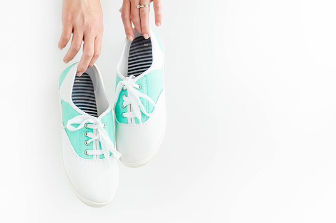 Diy Painted Mint Amp White Saddle Shoes Dream Green Diy
