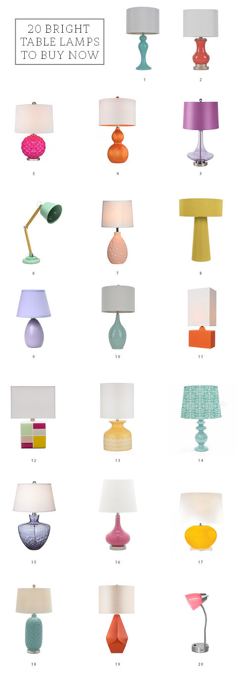 20 Bright Table Lamps To Buy Now | dreamgreendiy.com