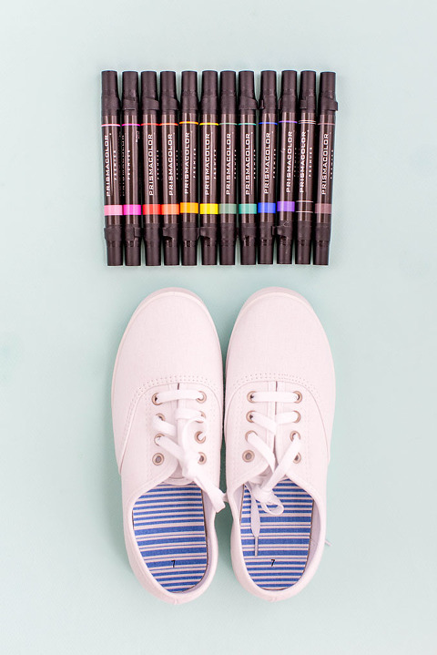 How To Make DIY Back-To-School Doodle Sneakers