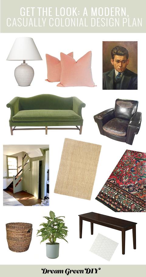 A Modern, Casually Colonial Makeover Design Plan | dreamgreendiy.com