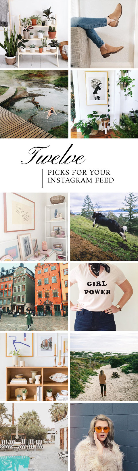 Twelve People To Add To Your Instagram Feed | dreamgreendiy.com