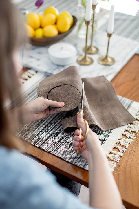 How To Make DIY Leather Coasters For Free | dreamgreendiy.com