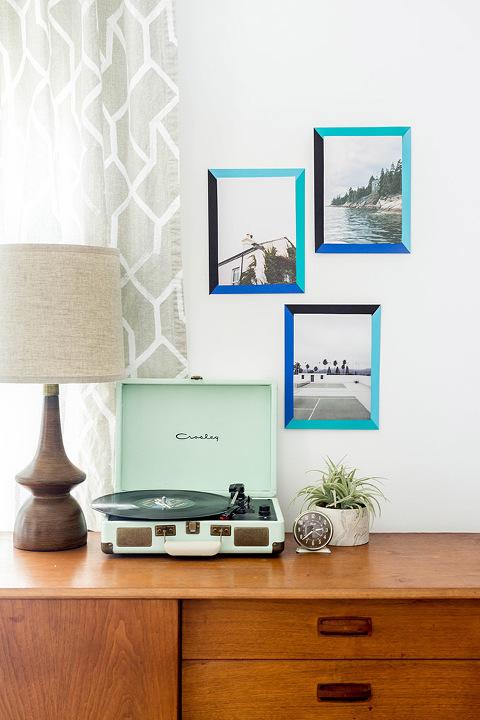 How To Make DIY 2D Color Block Paper Frames | dreamgreendiy.com + @astrobrights #ad #colorize