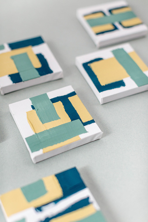DIY Mini Modern Abstract Painting Installation | dreamgreendiy.com + @orientaltrading