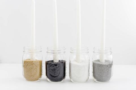 Minimalist Mason Jar Candle Holder | dreamgreendiy.com + @orientaltrading #ad
