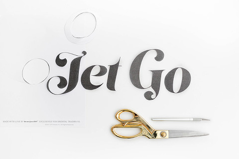 How To Make A Giant DIY Typography Art Print | dreamgreendiy.com + @orientaltrading