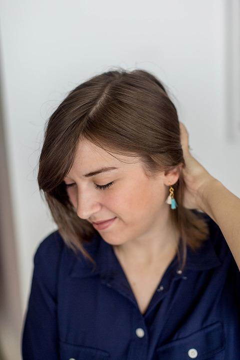 DIY Mini Dangle Tassel Earrings   dreamgreendiy.com + @orientaltrading