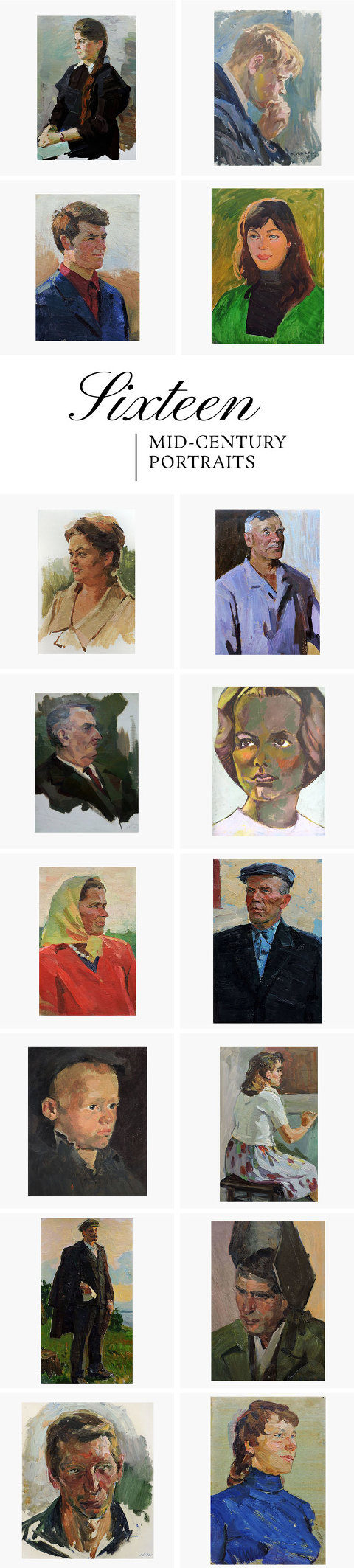 Roundup Of 16 Mid-Century Portraits From Etsy