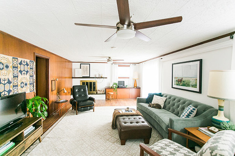 Transform your basement into a cozy family room