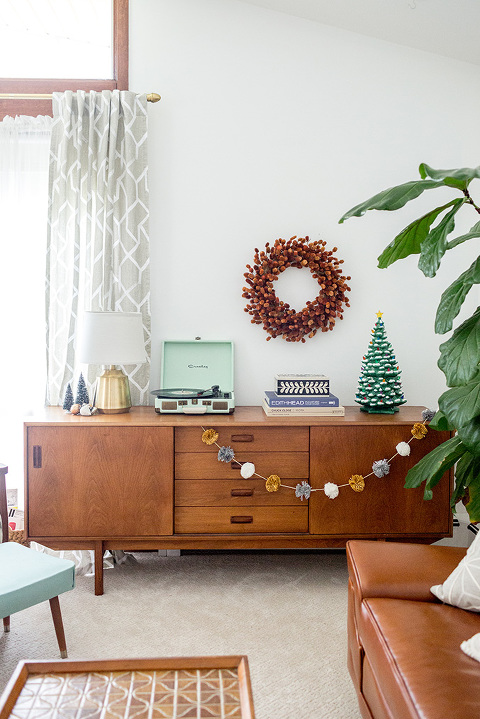 Our Rust & Gold Christmas Living Room
