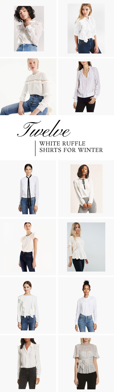 12 White Ruffle Shirts For Winter
