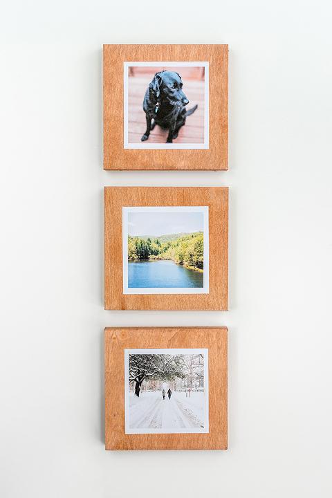 DIY Faux Stained Wood Instagram Frame | dreamgreendiy.com + @orientaltrading