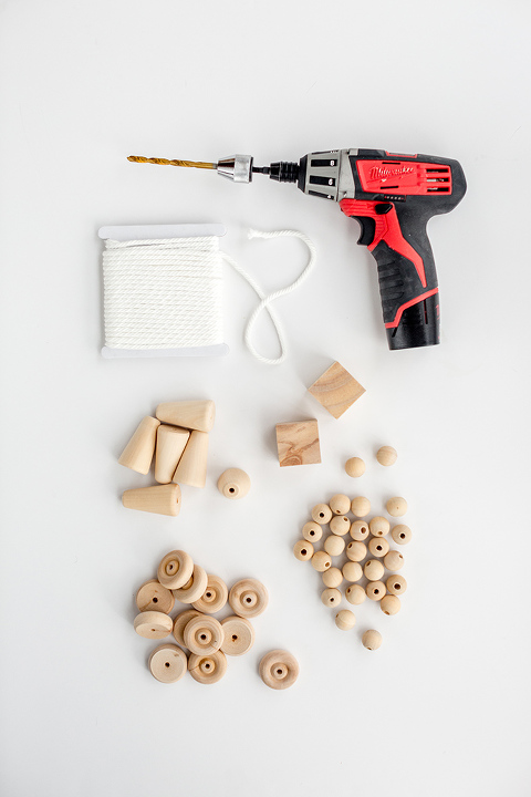 DIY Decorative Wooden Bead Strand
