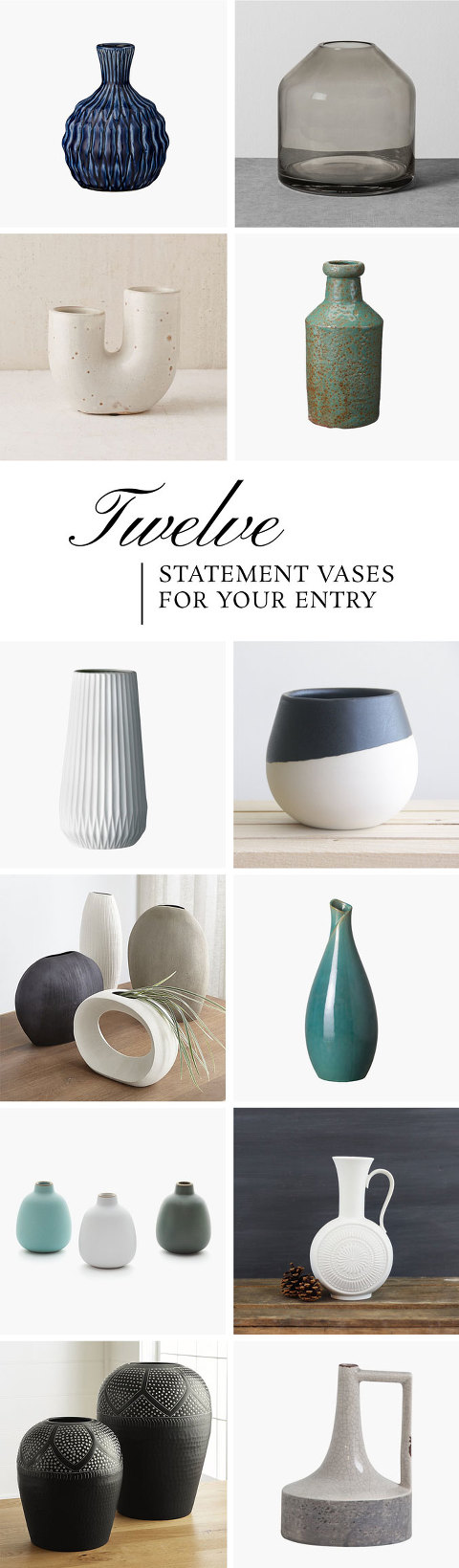 12 Statement Vases For Your Entry Table