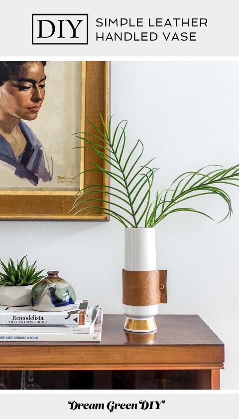 DIY Leather Handled Vase