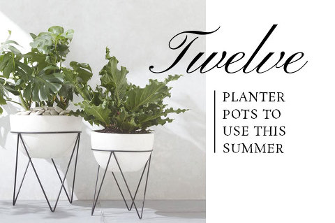 12 Planter Pots To Use This Summer