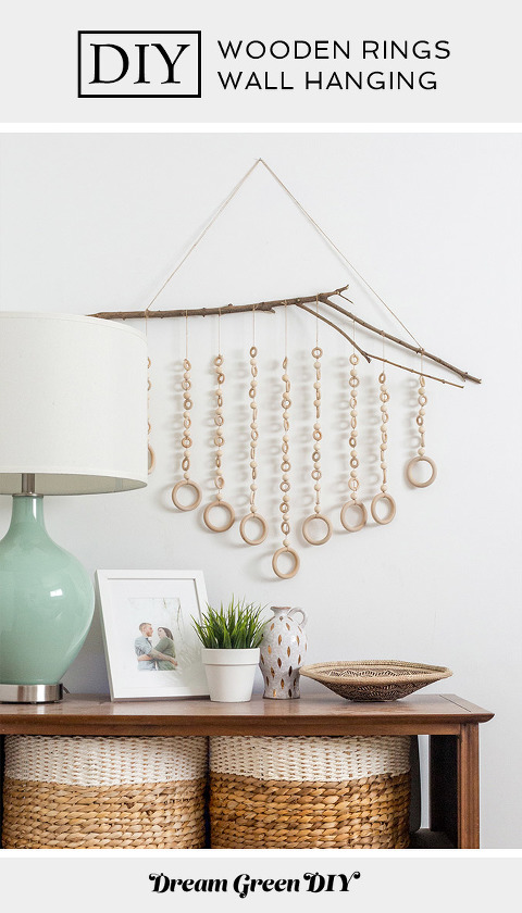 DIY Wooden Rings Wall Hanging