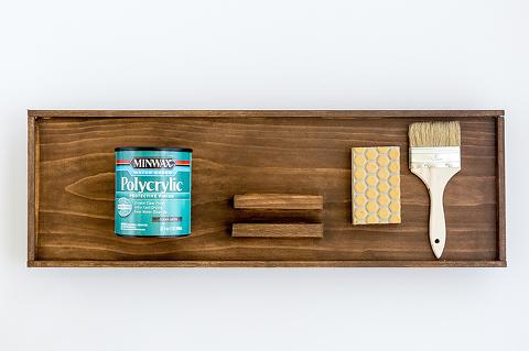 DIY Waterproofed Wood Bath Tray