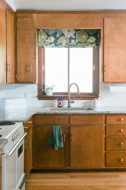 Faux Roman Shade For The Kitchen