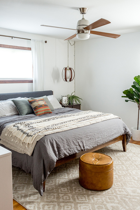 One King Size Bed Styled Two Ways