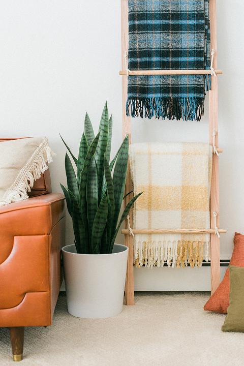 DIY Swing Arm Blanket Ladder