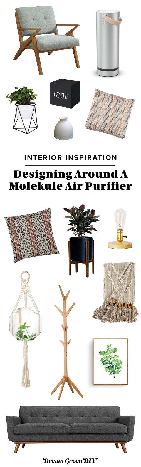 Designing Around A Molekule Air Purifier | dreamgreendiy.com + @Molekule #ad #mymolekule