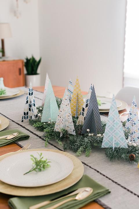 DIY Paper Christmas Tree Centerpiece