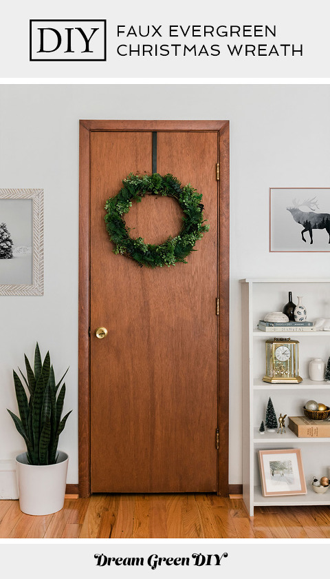 DIY Faux Evergreen Christmas Wreath