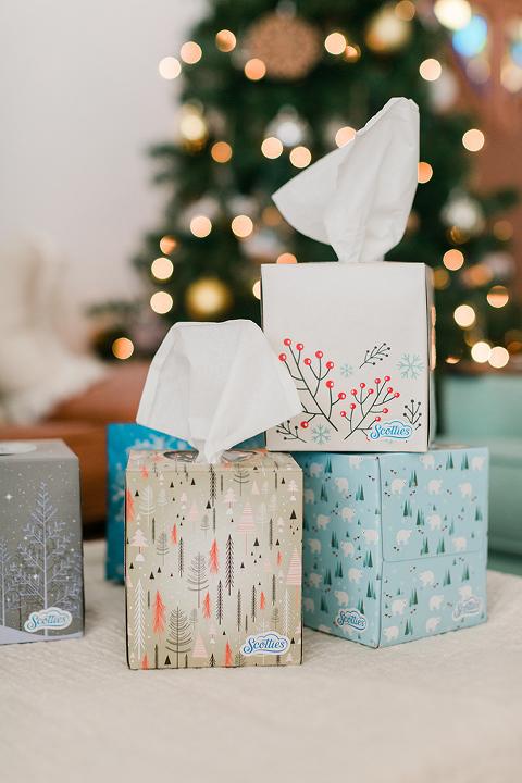 DIY Tissue Box Christmas Gift Tags