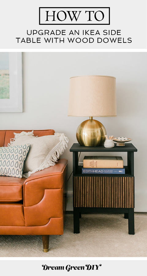 Upgrade An IKEA Side Table With Wood Dowels