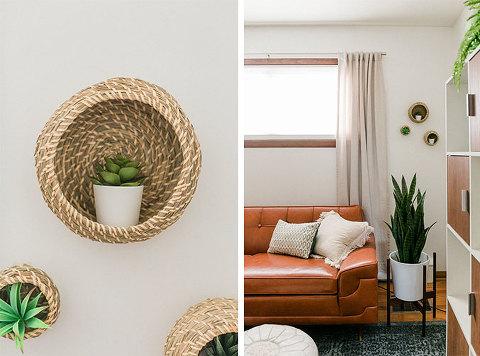 Hack IKEA Baskets Into Succulent Shelves