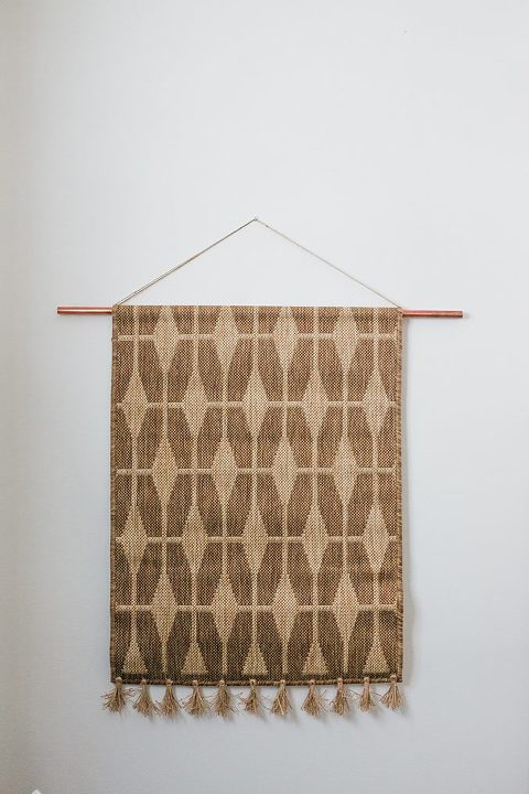 How To Turn A Rug Into A Wall Hanging