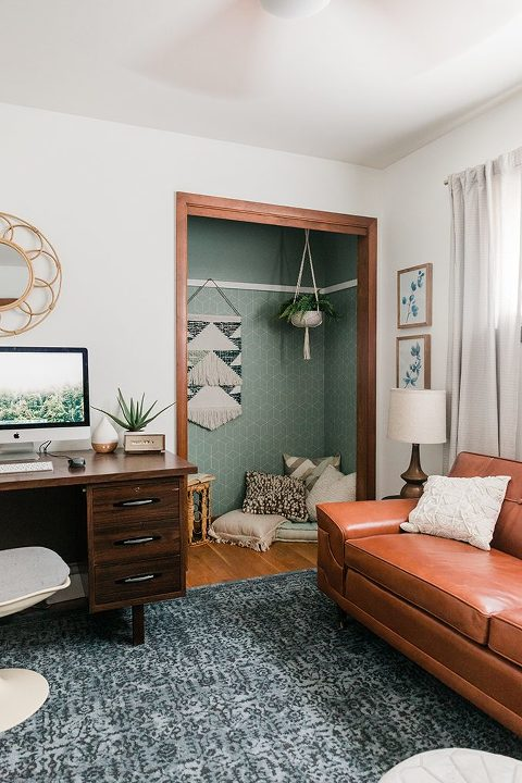DIY Peel-&-Stick Wallpaper Closet Makeover
