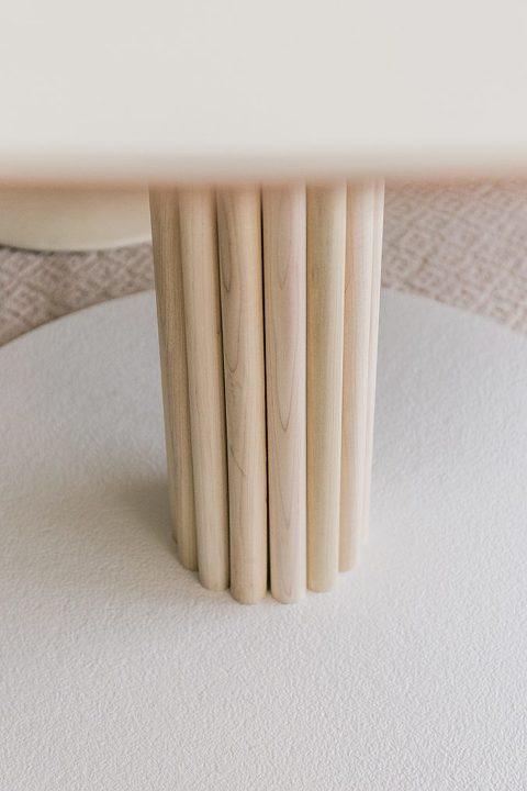 DIY Midcentury-Inspired Wood Slat Coffee Table