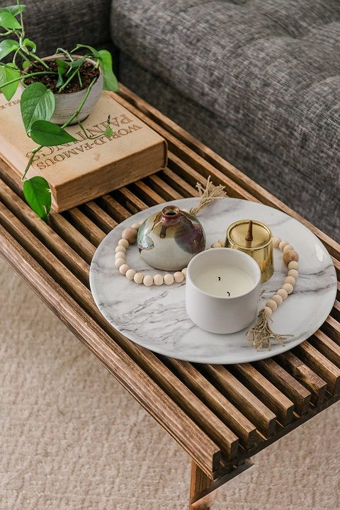 DIY Mid-century-Inspired Wood Slat Coffee Table