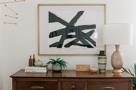DIY Black And White Abstract Art