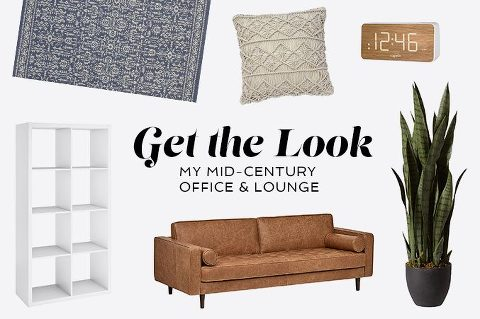Get The Look: My Mid-Century Office & Lounge