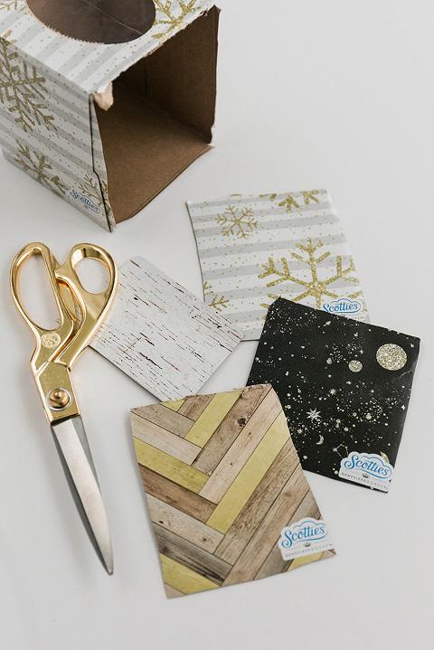How To Turn A Tissue Box Into DIY Magnets | dreamgreendiy.com + ScottiesFacial.com #ad #MyScottiesStyle