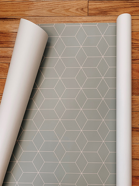 DIY Wallpapered Refrigerator Makeover